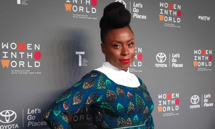 Chimamanda Ngozi Adichie pictured at the Women in the World Summit in 2017.