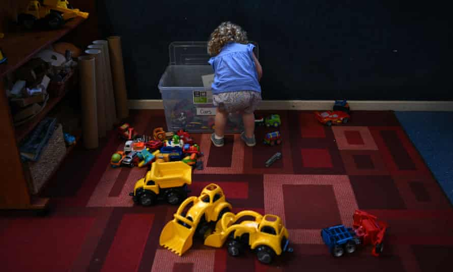 A child plays at a childcare centre in Sydney