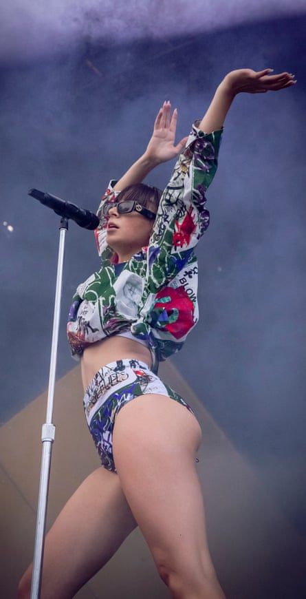 Charli XCX performs on day three of the Pitchfork Music Festival in July 2019 in Chicago, Illinois