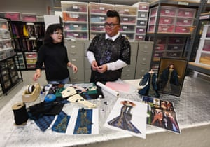 Barbie stylists Nini Tun, left, and Carlyle Nuera in the workshop at the Mattel design studio in El Segundo, California