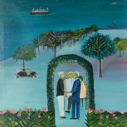 Khakhar's Man Leaving (Going Abroad) (1970)