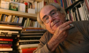 The French philosopher and sociologist Jean Baudrillard at his home in Paris.