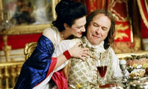 Asia Argento as Comtesse du Barry and Rip Torn as Louis XV in Sofia Coppola's Marie Antoinette, 2006