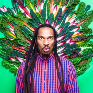 Poet and writer Benjamin Zephaniah photographed for Observer Food Monthly