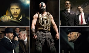 Composite of Tom Hardy in Locke, The dar Knight, Legend, Taboo and Peaky Blinders