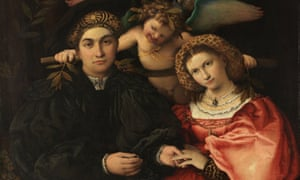 Lorenzo Lotto's Portrait of Marsilio Cassotti and his Wife Faustina, 1523.