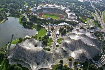 Frei Otto's Olympic Stadium for the 1972 Munich Games.