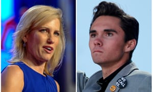 'Last Wednesday, Ingraham mocked Parkland survivor David Hogg for his failure to gain admission to several colleges'.