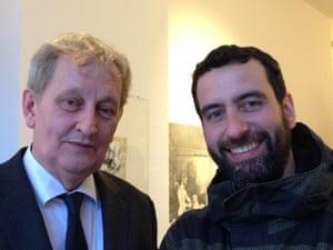 Day and night: Amsterdam mayors Eberhard van der Laan and Mirik Milan.