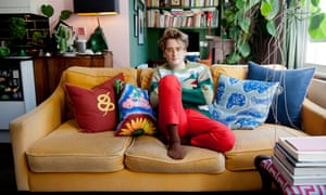 'It is a way of expressing yourself' … Luke Edward Hall in his flat.