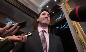 Canadian prime minister Justin Trudeau speaks to the media in Ottawa
