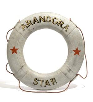 Life ring with Arandora Star logo