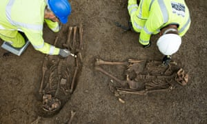 A set of unusual Roman burials being excavated by archaeologists working on the A14 project.