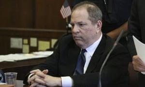 Harvey Weinstein at his arraingment in court in New York in July.