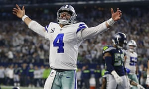 Dak Prescott threw for one touchdown and ran for another in the Cowboys' win over Seattle
