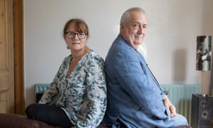 Harriet Sherwood and Alaric Bamping, who were in a relationship when they were students 40 years ago.