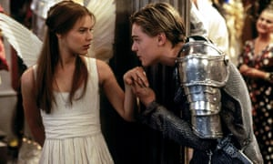 Claire Danes and Leonardo DiCaprio in Baz Luhrmann's 1996 film of Romeo and Juliet.