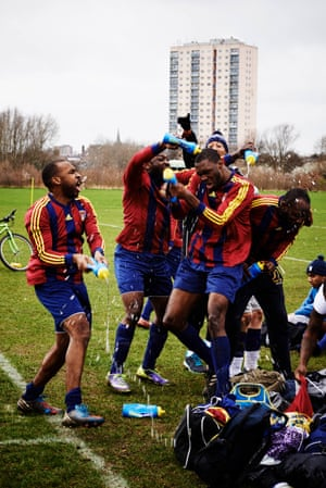 Sunday Football by Chris Baker When Chris Baker decided to shoot a project on the Sunday League teams at Hackney Marshes, he wasn't hunting down future David Beckhams. This is his 'ode to those players that turn up late, hungover and discussing last night's conquest'. A foul-mouthed, rambunctious tribe, prone to fights, sometimes out of shape, but fiercely devoted to their team. Baker highlights the details and characters that make amateur football unique, reminding us that sport isn't always about winning or losing. It's about playing.
