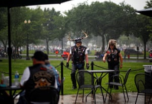 Motorcyclists participate in Rolling Thunder, the annual ride around Washington Mall