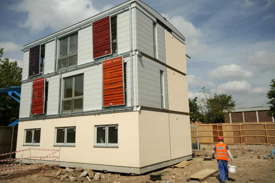 A modular ROK house, which arrives onsite prefabricated and can be erected in three days.