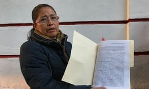 Ma Catalina Vázquez Pérez, a petitioner who hopes Amlo will get her son out of jail.