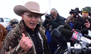 LaVoy Finicum posted a video of himself inside a government building looking through cardboard boxes of papers and other items associated with the Paiute tribe.