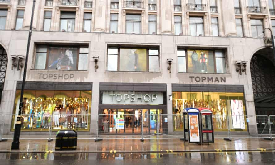 The former flagship store of Topshop on Oxford Street, London.