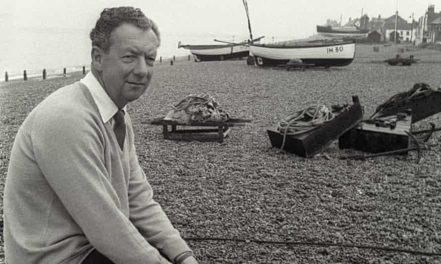 Benjamin Britten on Aldeburgh Beach in 1964.