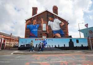 Fans get to admire the artistry of a giant Tranmere Rovers mural when they make their way to Prenton Park.