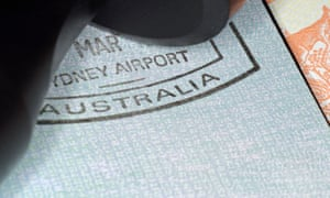 Australian immigration stamp