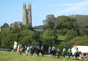 Dartmoor hill pony display team at Widecombe fair.