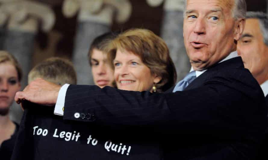 Joe Biden and Lisa Murkowski at the US Capitol in Washington DC on 5 January 2011.