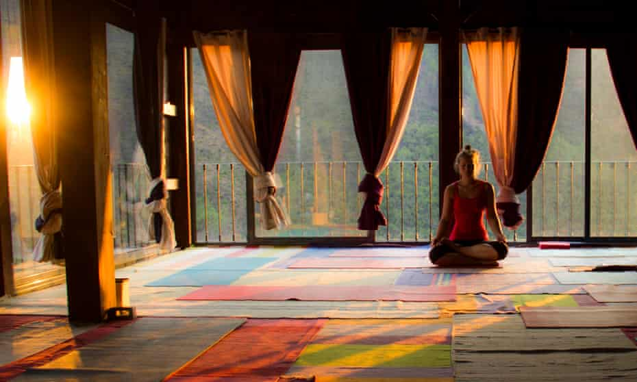 Yoga at Vale de Moses, Oleiros, Portugal. Yoga Shala Practice Space