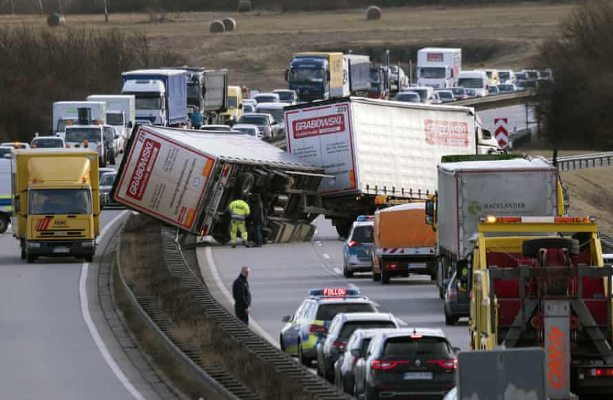 A crash during heavy storms near Erfurt, central Germany.