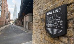 Low Line plaque at London Bridge