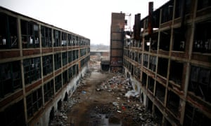 Since its abandonment, the Packard Plant has become a prime location for 'ruin porn'.