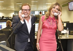 Comedian Alan Carr and actress Elizabeth Hurley, representing Walking With The Wounded/Wounded Veterans Fund.