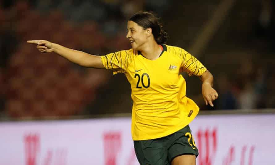 Sam Kerr puts the Matildas ahead
