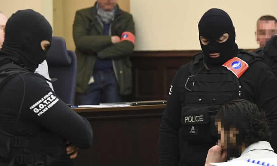 Paris terror attack Salah Abdeslam appears in court  in Belgium on Monday.