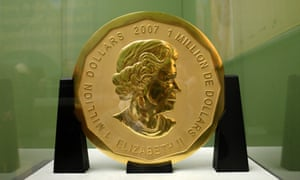 The Big Maple Leaf coin on display at the Bode Museum in Berlin last year.