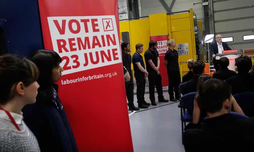 Jeremy Corbyn sets out his case for remaining in the EU at the University of Sheffield on 16 June.