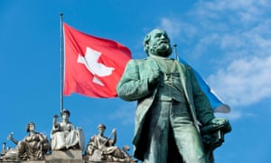 The statue of Alfred Escher has stood outside Zurich's main train station for more than 100 years