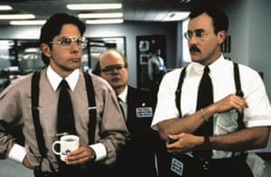 The weirdness of the workplace … Gary Cole, Paul Willson and John C McGinley in 1999's Office Space.