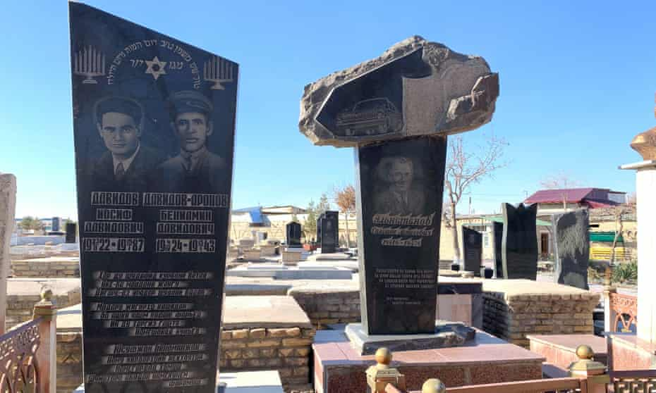Graves at the Jewish cemetery in Bukhara.