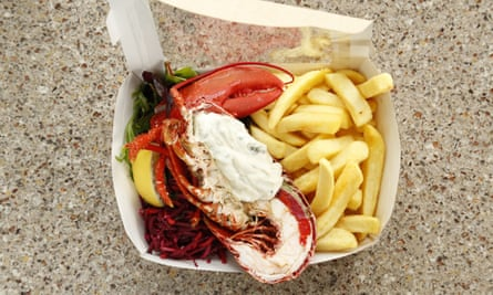 East Pier SmokehouseLobster and chips.