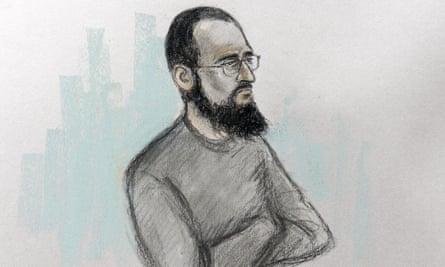 Husnain Rashid in court.