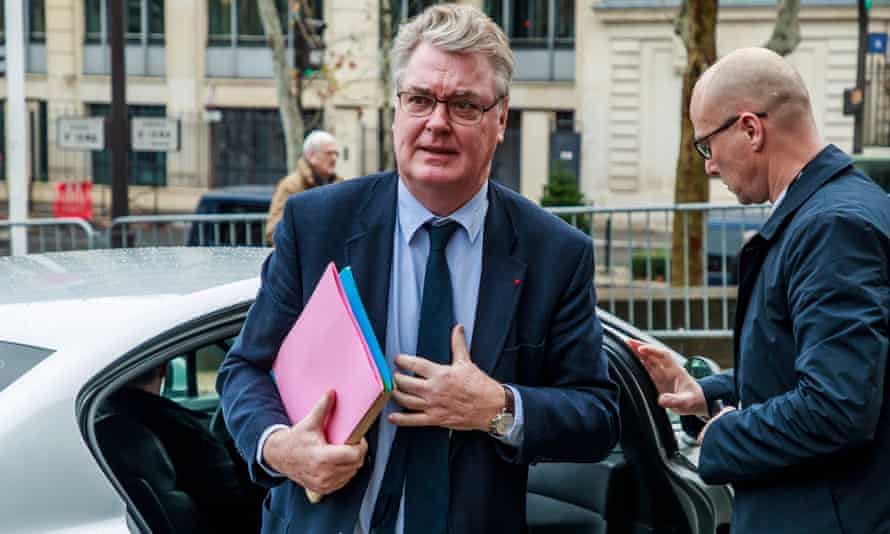 Jean-Paul Delevoye arrives for a meeting in Paris