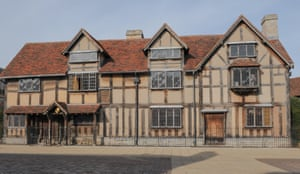 William Shakespeare's birthplace in Henley Street, Stratford-upon-Avon.