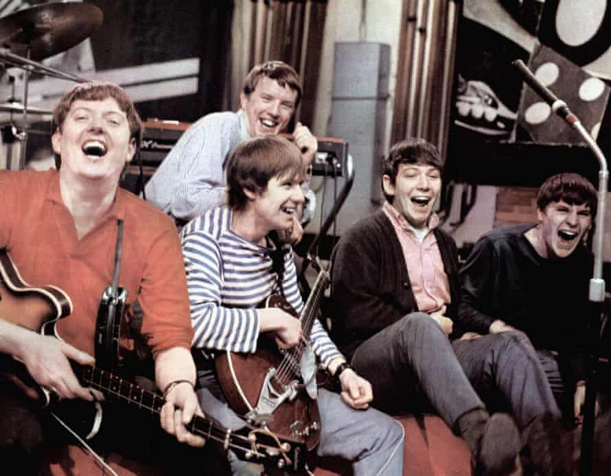 The Animals in the 1960s. Left to right, Chas Chandler, John Steel, Hilton Valentine, Eric Burdon and Alan Price.