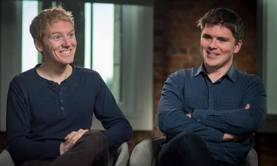 Brothers Patrick and John Collison